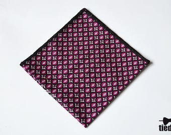Light purple Handmade pocket square, Cotton pocket square for men,Wedding pocket square, Men's Handkerchief,