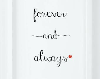 Forever and always|Modern Art|Simple Decor
