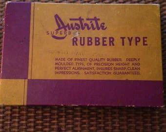 Rubber Stamp Kit Austrite Superb Rubber Type