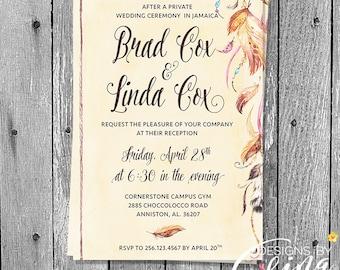 Wedding Invitation, Shower Invitation,  Custom Invitation, Name Invitation