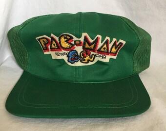 Vintage 1980's Pac Man Trucker Hat!