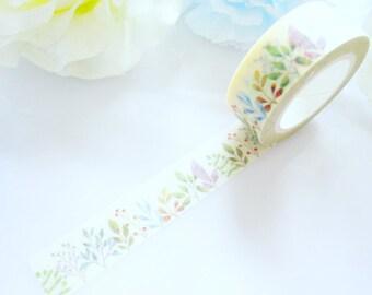 Pretty Leaves Garden Washi Tape Stationery Masking Deco Tape