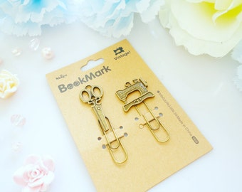 Vintage Style Bookmark Paper Clips