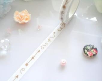 Swirls Arrows Washi Tape  Stationery Masking Deco Tape