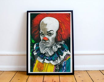 Pennywise Stephen King IT Drawing Print
