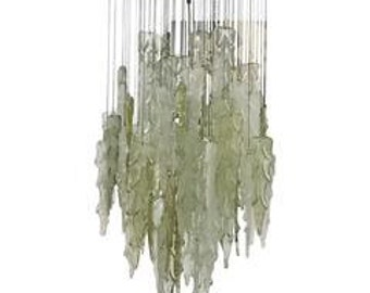 Rare chandelier attributed to Mazzega made around 1960