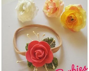 Single flower bloom headpiece