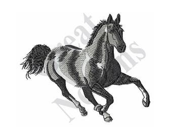 Running Horse - Machine Embroidery Design