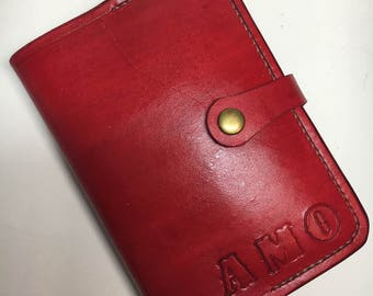 Handmade Leather Small Notebook Cover with lined Notebook