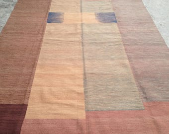 ARTICLE # 6010 Special High Quality Stripped Hand Made Wool Kilim Rug 290 x 202 CM ( 9.5 x 6.6 Feet)