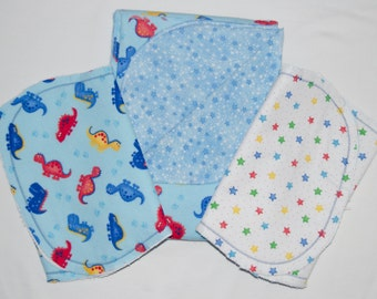 Receiving Blanket and two burp cloths - Reversible