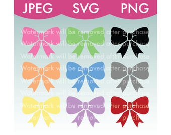 Cheer Bows - Ribbons - SVG, PNG, JPEG, Art, Stock Photo,  Files, Download, Rainbow, Colorful, Clip Art, Cute, Cricut, Bow, Lace, Silhouette