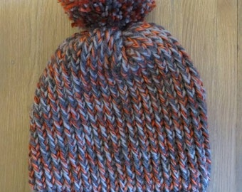 Cap adult shades of gray and orange