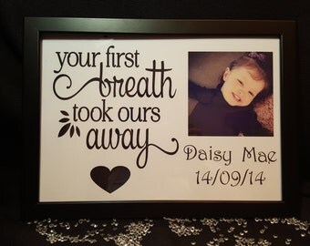 Framed Personalised Glossy Print.