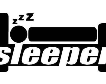 Sleeper, Funny Car Vinyl Decal JDM Sticker