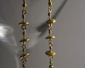 Yellow gold vermeil dangle earrings