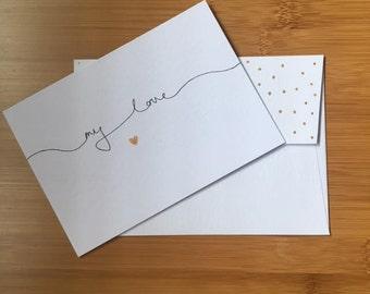 My Love Handmade Greeting Card