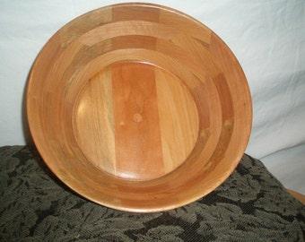 Wood Salad  Bowl #32 free shipping