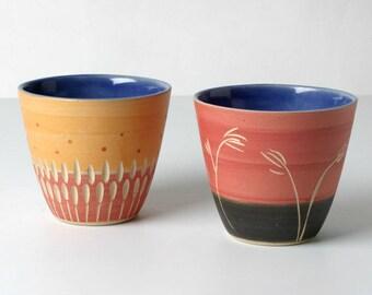 2 hangetöpferte espresso cups for tea lights suitable gifts for her