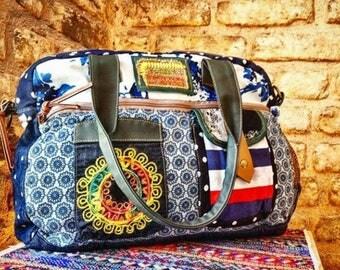 bohemian women bag,cotton bag,women laptop bag,travel bag.Shoulder Bags