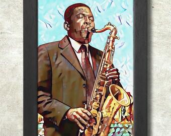 John Coltrane Poster Print A3+ 13 x 19 in - 33 x 48 cm  Buy 2 get 1 FREE