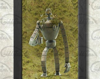 Laputa's Guardian Robot Poster Print A3+ 13 x 19 in - 33 x 48 cm #Castle in the Sky Buy 2 get 1 FREE