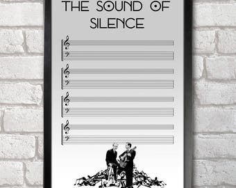 The Sound of Silence Poster Print A3+ 13 x 19 in - 33 x 48 cm Simon & Garfunkel Buy 2 get 1 FREE