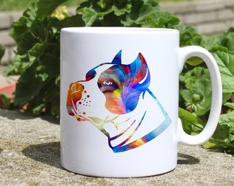 Pitbull mug - American bully mug - Colorful printed mug - Tee mug - Coffee Mug - Gift Idea