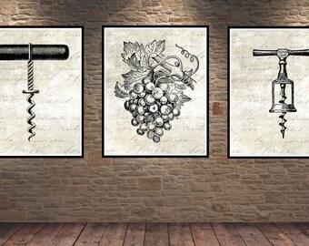 Wine Print. French Country Decor. Farmhouse Decor. Farmhouse Wall Decor. French Country Wall Decor. Dining Room Wall Art. Wine. Vino