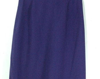 Vintage Royal Purple Skirt (1960s-1980s)