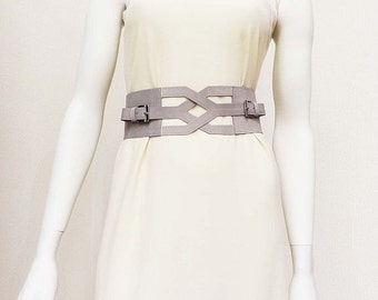 Waist belt  Women Belt  Belt Gray belt Handmade belt  Clasp Wide belt  Real leather Tie  Wide leather belt  Leather belt  Belt of leather
