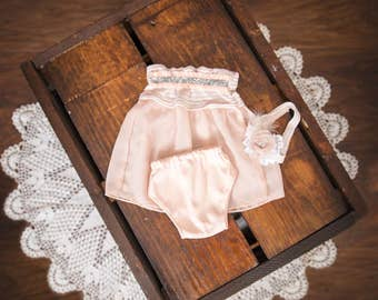 Newborn Top with Bottom and headband - Photography Prop