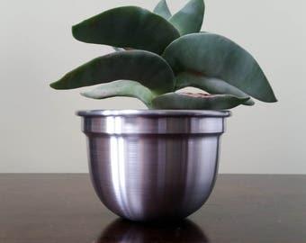 Set Of 3 Aluminium Plant Pots/Planters