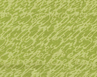 SALE Script Pattern on Light Olive Green Script by Carla Miller for Rowan Fabrics Overall Pattern Quilting Weight Fabric Sold in Whole Yards
