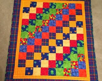 Baby Quilt on Diagonal