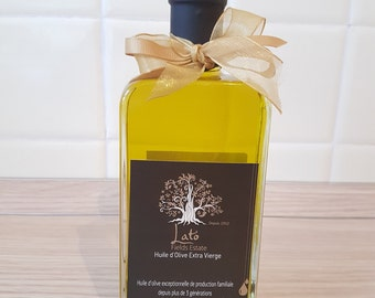 Greek Premium Extra Virgin Olive Oil sold directly from a producer 250ml glass bottle