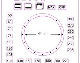 Centigrade separate oven temperature numbers