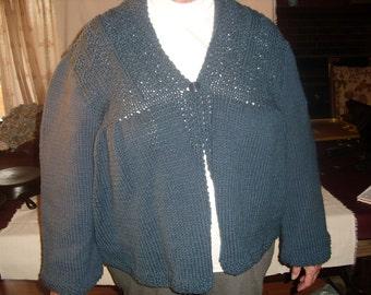 Dark Blue Knitted Jacket