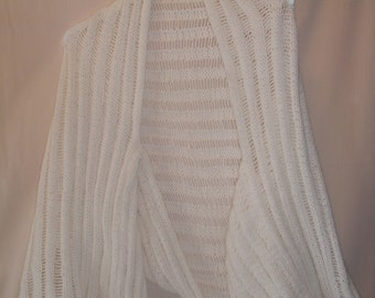 White Knitted Shrug