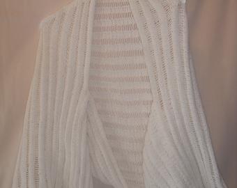 White Knitted Shrug
