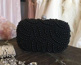 Bridal Clutch, Pearl Clutch, Wedding Clutch, Bridesmaids Clutch, Bridal Accessory, Pearl Clutch, Pearl Accessories, Free Shipping!