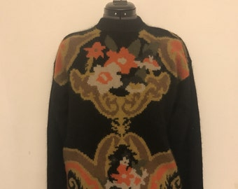 Stunning vintage wool and angora sweater