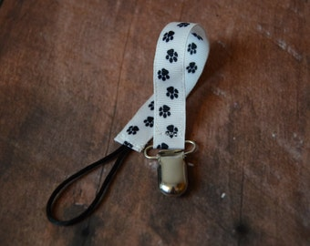 Paw Print Pacifier Clip -  Free shipping