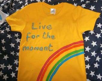 Live for the Moment T shirt Yellow