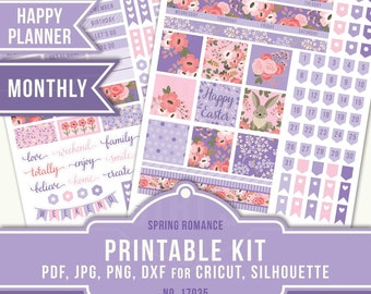 Happy Planner Stickers, April Monthly Kit, April Planner Stickers, Easter Planner Stickers, Easter Planner, MAMBI Planner, 17035