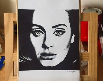 Drawing of Adele.