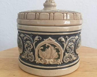 Hand painted Vintage Canister