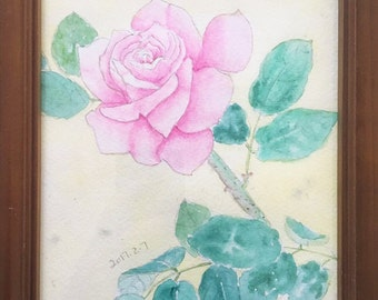 Rose watercolor painting,Interior decroation, Home design
