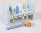 Personalised Stars Toy Hammer Bench