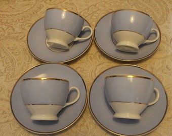 Royal Dalton, Bruce Oldfield - set of 4 Tea Cups and Saucers
